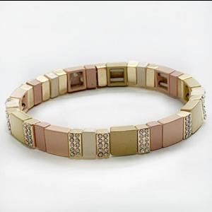 caryn lawn Caryn Lawn Tile Bracelet CZ NUDE/TAN