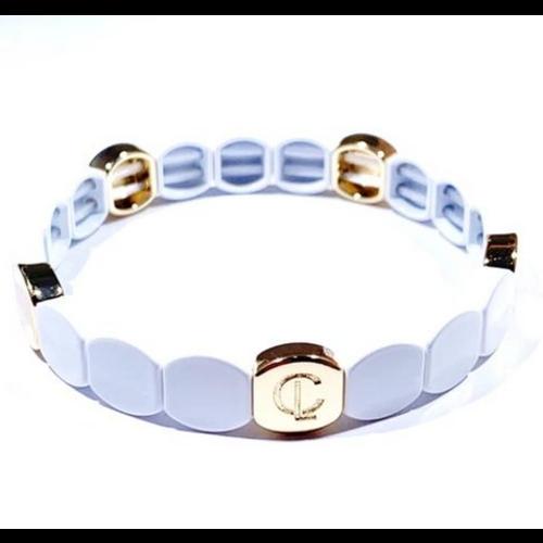 caryn lawn Caryn Lawn Tile Bracelet ROUND TILE WHITE