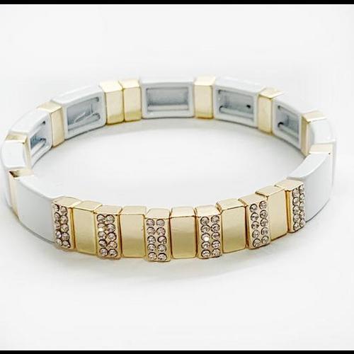 caryn lawn Caryn Lawn Tile Bracelet CZ WHITE