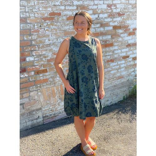 Baci & Amici Baci Floral Tank Dress Pkts Kha/Nvy 21960316