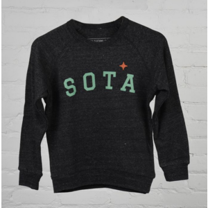 Sota Clothing Sota Pipestone Youth Crewneck Eco Black/Teal