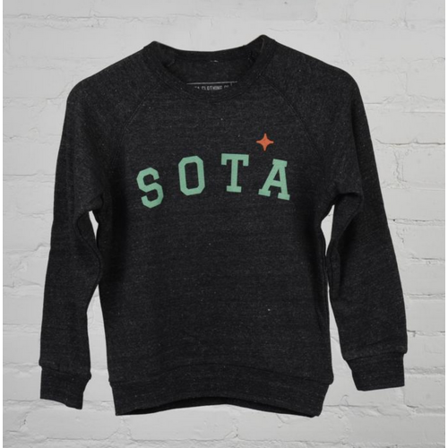 Sota Clothing Sota Pipestone Youth Crewneck Eco Black/Teal