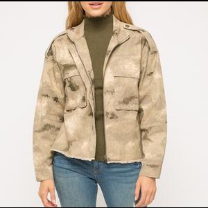 Mystree Mystree Grey Camo Jacket