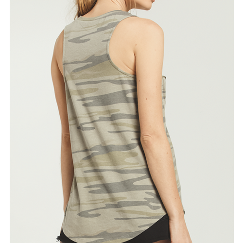 Z Supply Z Supply Camo Pocket Racer Tank ZT163216S