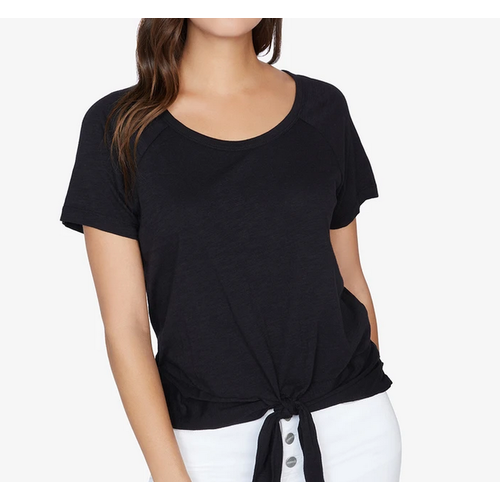Sanctuary Sanctuary Lou Ruched Tie Tee BLACK CT2943K60