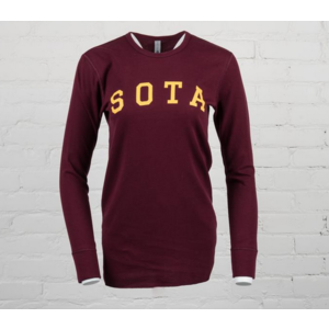 Sota Clothing Sota Northrop Long Sleeve Thermal Maroon/Gold