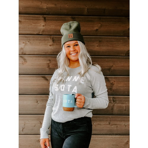 Sota Clothing Sota Nesbitt Long Sleeve Thermal Heather Grey/Wht