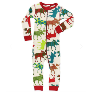 lazy one Lazy One Patterned Moose Unionsuit