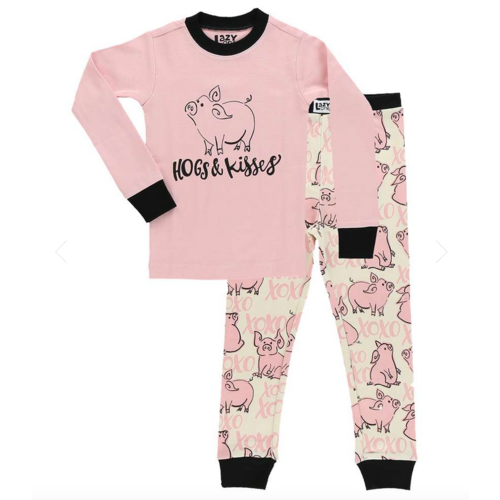 lazy one Lazy One Hogs and Kisses PJ Set KID857