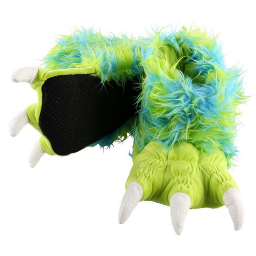 lazy one Lazy One Green Monster Paw Slipper BP350B