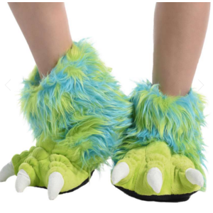 lazy one Lazy One Green Monster Paw Slipper
