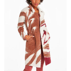 Nic & Zoe Abstract Waves Coat NUM F201162