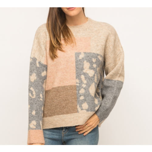 Mystree Mystree Taupe Mix Sweater