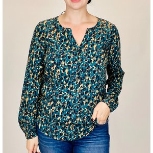 Soya Concept Ladies Woven Blouse Deep Green