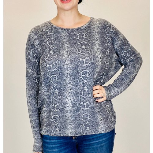 Soya Concept Ladies Knitted Top Grey Combo