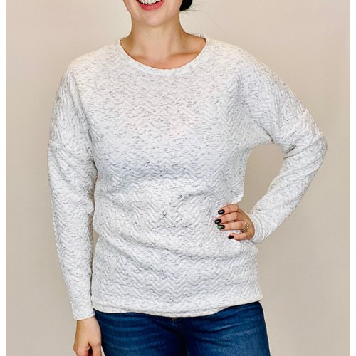 Soya Concept Ladies Knitted Top Chev Off White Combo