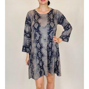 Nally & Millie Snakeskin Dress