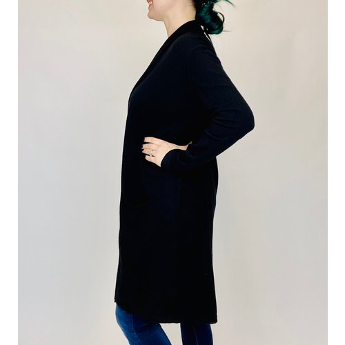 M Made in Italy Black Duster 17/9018N