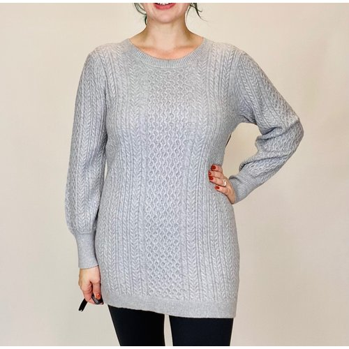 SISTERS Sisters Cable Tunic Grey BM383