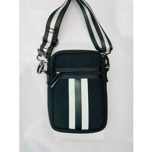 haute shore Haute Shore Casey Cell Phone Bag Twist Blk Linen/Wht