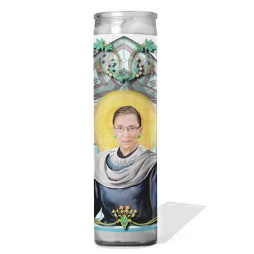 calm down caren RBG Celeb Prayer Candle