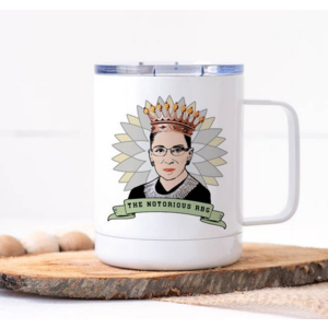 calm down caren Notorious RBG Stainless Travel Mug