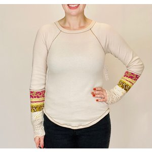 free people FRee People In the Mix Cuff LINEN COMBO