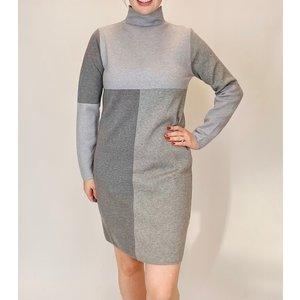 THML THML Grey Colorblock Dress Swtr