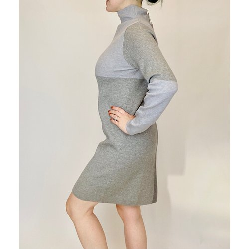 THML THML TMK1188 Grey Colorblock Dress Swtr