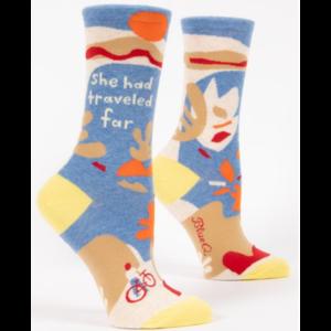 BLUE Q Blue Q She Had Traveled Far Socks