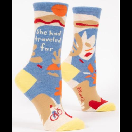 BLUE Q Blue Q She Had Traveled Far Socks SW523