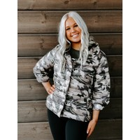 Anorak Missy Down Filled Coat NEUTRAL CAMO 50828CNP