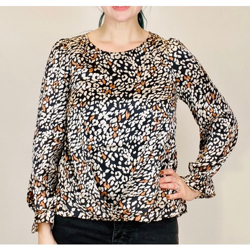 THML THML  Animal Blouse BLK