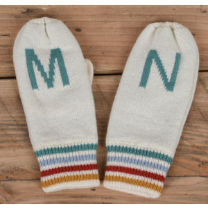 Sota Clothing Sota Candlewood Mittens Cream/Teal/Red