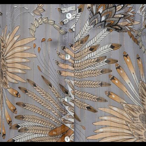 Esqualo Esqualo Print Feather Blouse 15711