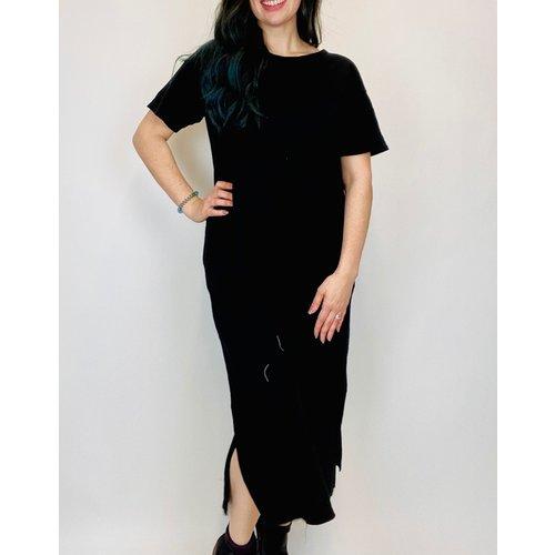 Mod-o-doc Mododoc S/S Midi T Shirt Dress BLK