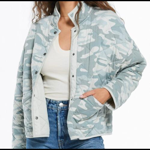 Z Supply Z Supply Maya Camo Quilted Jacket Camo Dusty Sage