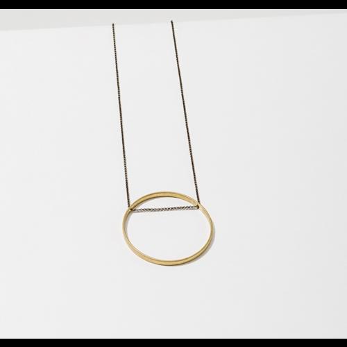 Larissa Loden Larissa Loden Horizon Circle Necklace Medium
