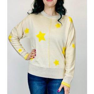 THML THML Star Sweater Top Neu/Yellow