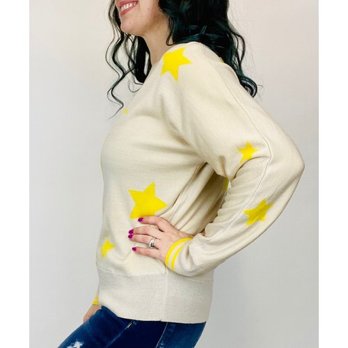 THML THML Star Sweater Top Neu/Yellow TMK1248