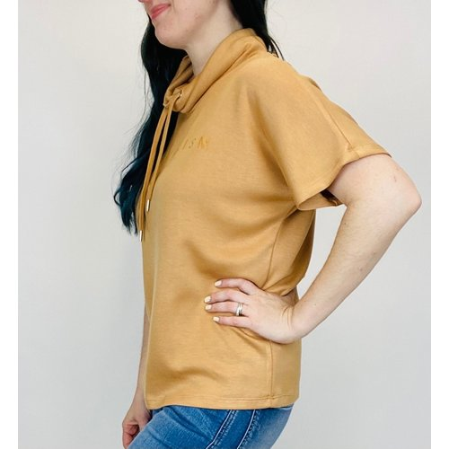 Soya Concept Cowl Neck S/S Biscut 25105