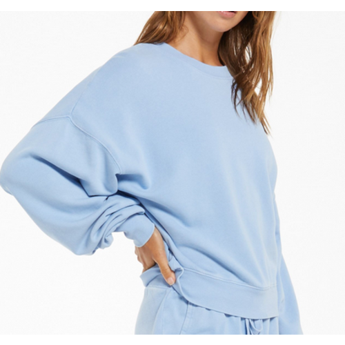Z Supply Z Supply Lia Washed LS Top PER BLUE ZT211233