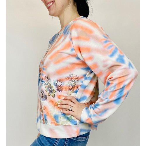 Desigual Sweatshirt Dye Mandala 1001 21SWSK01