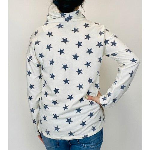 Hem & Thread Hem and Thread Star Print Cowl Neck Ivy/Nvy 30253