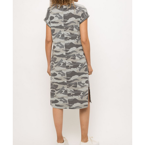 Mystree Mystree Maxi Dress Camo Gry 19210C