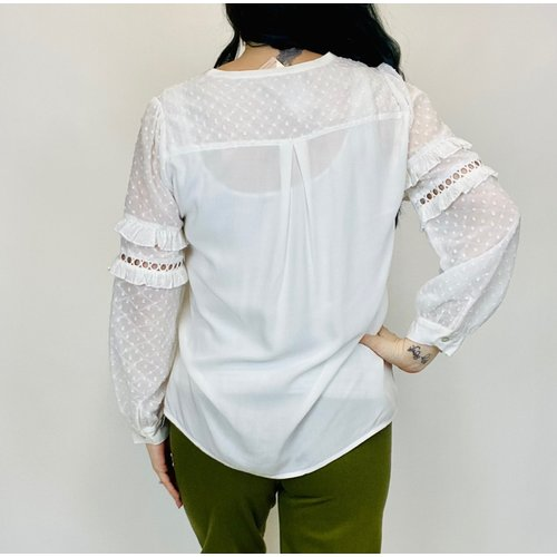 Esqualo Esqualo Crochet Top Off Wht 15024