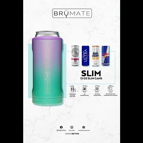 brumate Brumate Hopsulator SLIM Can Cooler Glitter Rose Gold