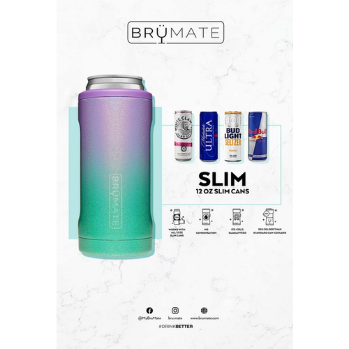 brumate Brumate Hopsulator SLIM Can Cooler Light Olive
