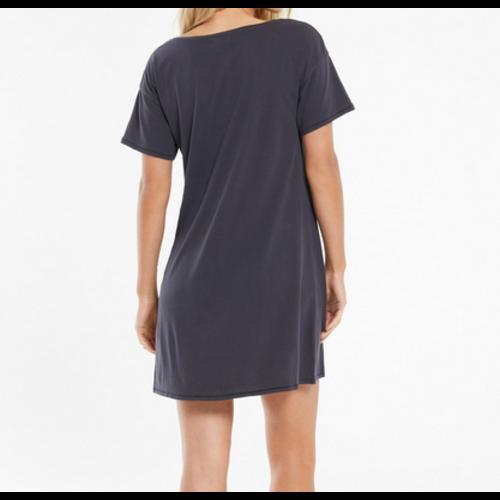 Z Supply Z Supply Birdie Org Mini Dress Washed Blk ZD212507