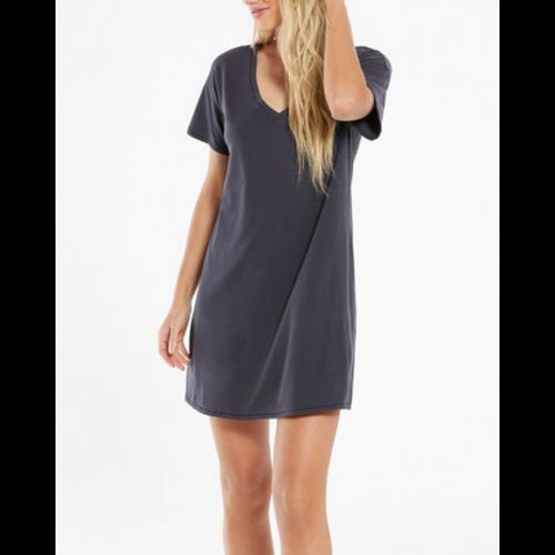 Z Supply Z Supply Birdie Org Mini Dress Washed Blk